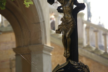 real crucifixes in a cemetery