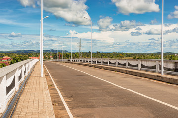 Bridge over the Mekong river in Muang Khong
