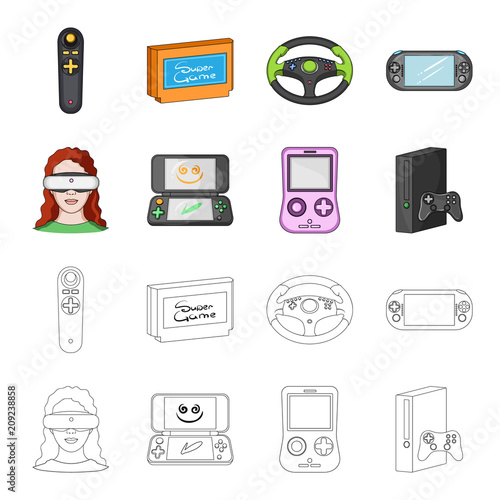 1c12a4055854 Game console and virtual reality cartoon