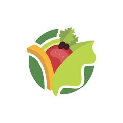Green Fresh Delicious Salad Vegetables Illustration