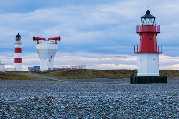 Point of Ayre Lighthouses and foghorn on the Isle of Man