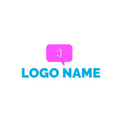 Logo dialog. Logo with dialog