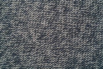 Knitted gray woolen cloth.