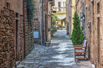 picturesque alley in Montecatini Alto