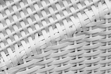 Weißes Kunststoffflechtmuster