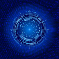 Futuristic interface circle. Techno illustration.