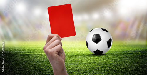 Fussball Rote Karte Stock Photo And Royalty Free Images On