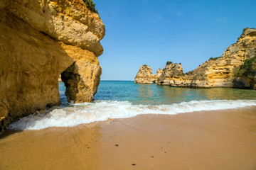 Wonderful view of portugal beach in Lagos Algarve Portugal