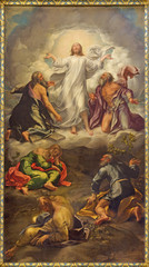 PARMA, ITALY - APRIL 15, 2018: The painting of Transfiguration of the Lord on the main altar of church Chiesa di San Giovanni Evangelista by Girolamo Bedoli-Mazzola (1556).