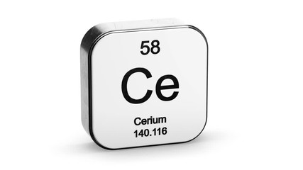 Search photos cerium 016 cerium element symbol from the periodic table on white metallic rounded square icon 3d animation urtaz Images