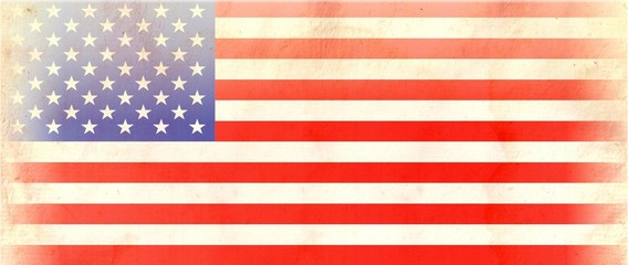 Particular United States of America FLAG on Vintage Paper