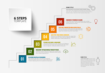 Square Steps Infographic Layout