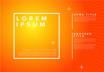 Abstract Sunburst Digital Poster Layout