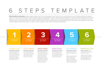 Six Step Process Infographic Layout