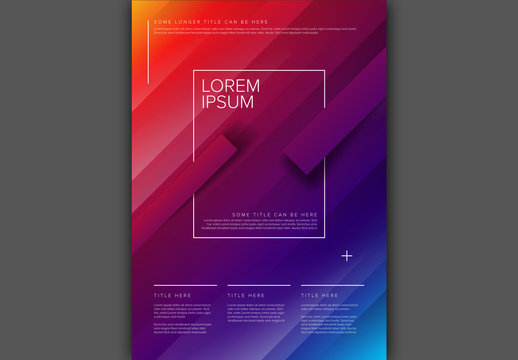 Blocky Color Gradient Digital Poster Layout