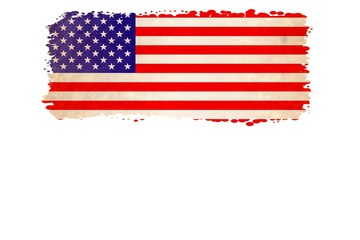 Particular USA FLAG, gradient edges and space for your Text, isolated on White Background