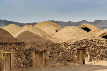 Traditional Iranian adobe village in Isfahan province. Iran