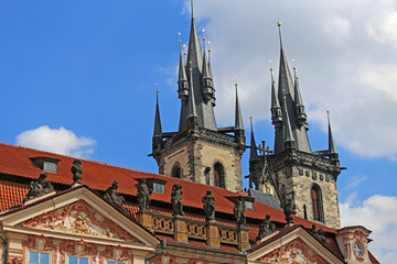 Church of Our Lady Before Tyn in Prague Czech Republic