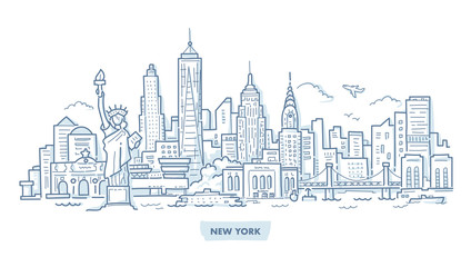 New York Cityscape Doodle