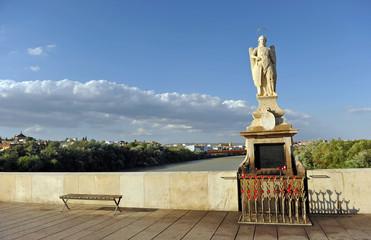 Altar of archangel St. Raphael (San Rafael) on the Roman Bridge. Cordoba, Andalusia, Spain