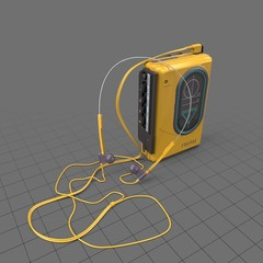 Portable cassette player upright
