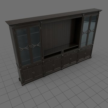 Transitional display cabinet