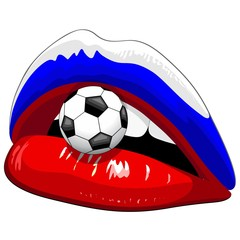 Russia Flag Lipstick Soccer Supporters