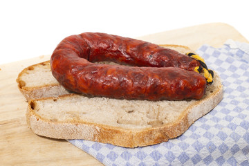 chorizo and traditional bread