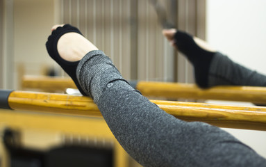 Pilates ballet bar stretching