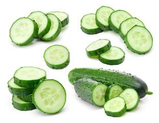 Cucumber collection isolated