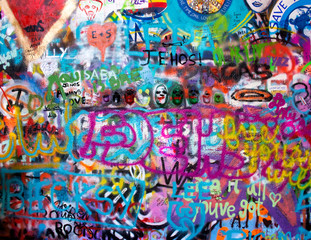 In de dag Graffiti john lennon wall prague