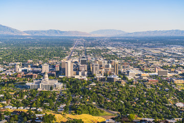 salt lake city,utah,usa. 2017/06/14 : beautiful salt lake city at sunset.