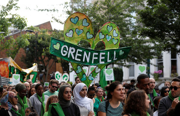Grenfell Tower fire first anniversary Silent March in London