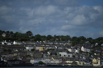 A general view of rows of homes and properties is seen in Cork