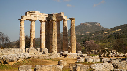 Temple of Zeus in ancient Nemea, Greece.