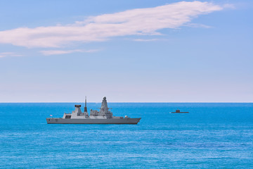 Air-defence Destroyer in the Sea