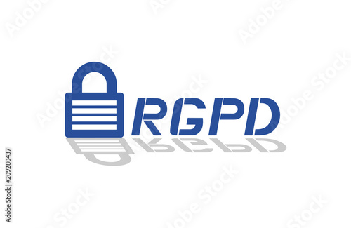 Rgpd Data Protection Symbol In Spanish Stock Image And Royalty
