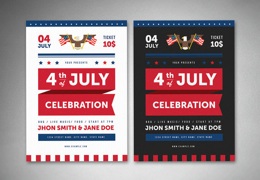 4th of July Flyer Layout