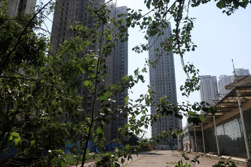 High-rises developed by Goldin Properties stand partially empty in Tianjin's high-tech zone