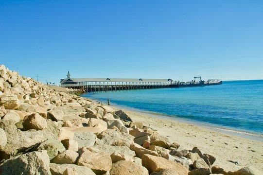 Martha's Vineyard Beachfront Ocean Pier.