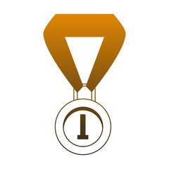 First place medal vector illustration graphic design