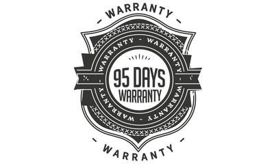 95 days warranty icon stamp