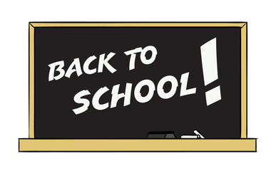 Back To School! on a Chalkboard
