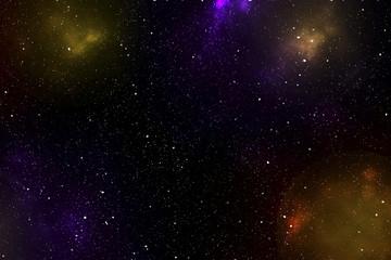 Space with black nebula