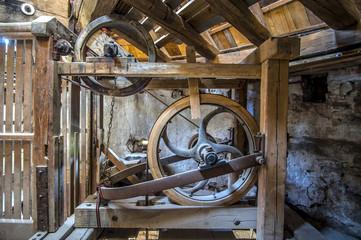 traditional vintage holland windmill machine mechanism