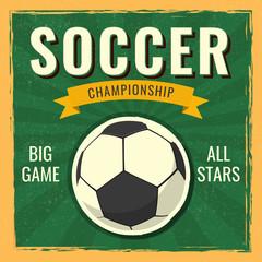 Retro Soccer Championship banner or poster design.