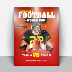Football Tournament League flyer or banner designs with match details.