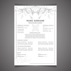 Creative field, resume template can be use as letterhead or cover letter. Professional CV design with placeholder.