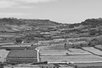 Rural landscape on island Gozo.