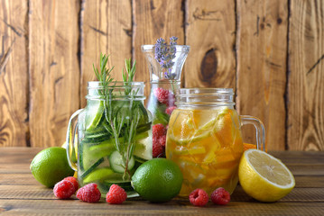 Infused fruit detox water